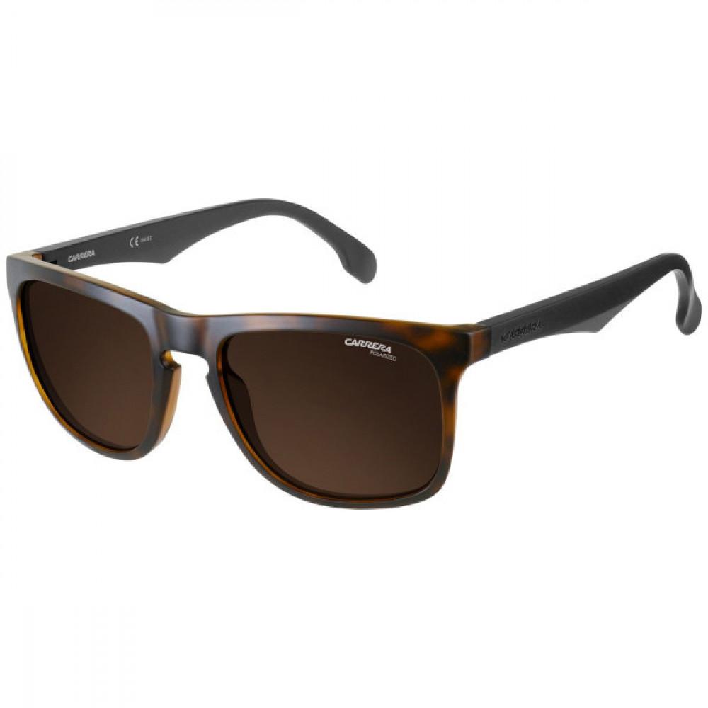 نظارة كاريرا شمسية للرجال - شكل مستطيل - لونها تايقر - زكي للبصريات