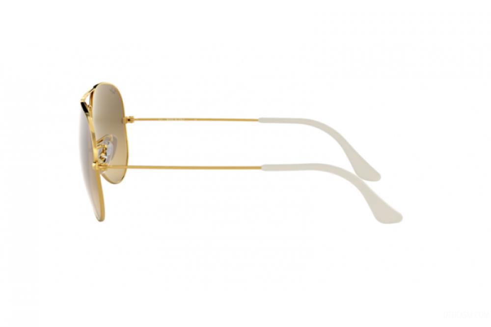 احسن نظارة ريبان شمسية رجالية - شكل افياتور - لون ذهبي - زكي للبصريات