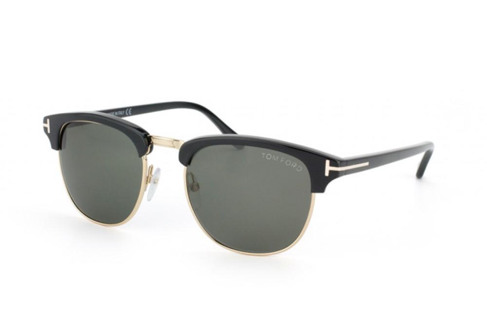 نظارة توم فورد شمسية للرجال - لون ذهبي - زكي للبصريات