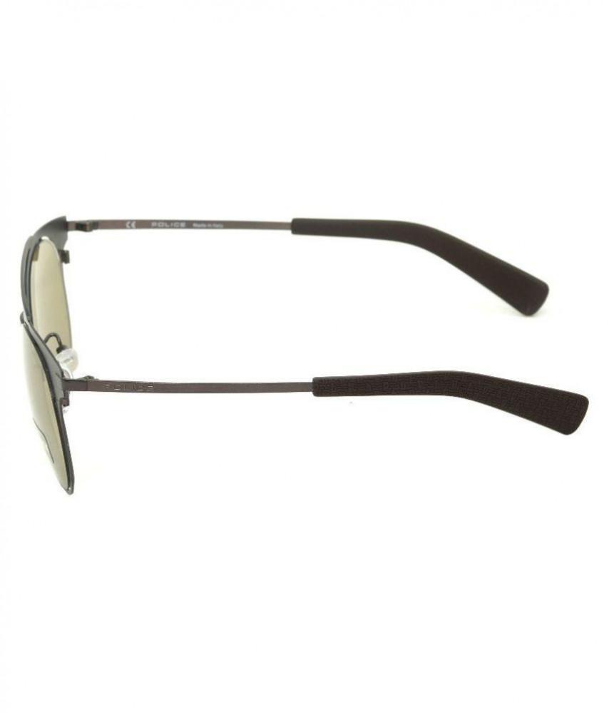 احسن نظارة بوليس شمسية للرجال - شكل دائري - لون بني - زكي للبصريات