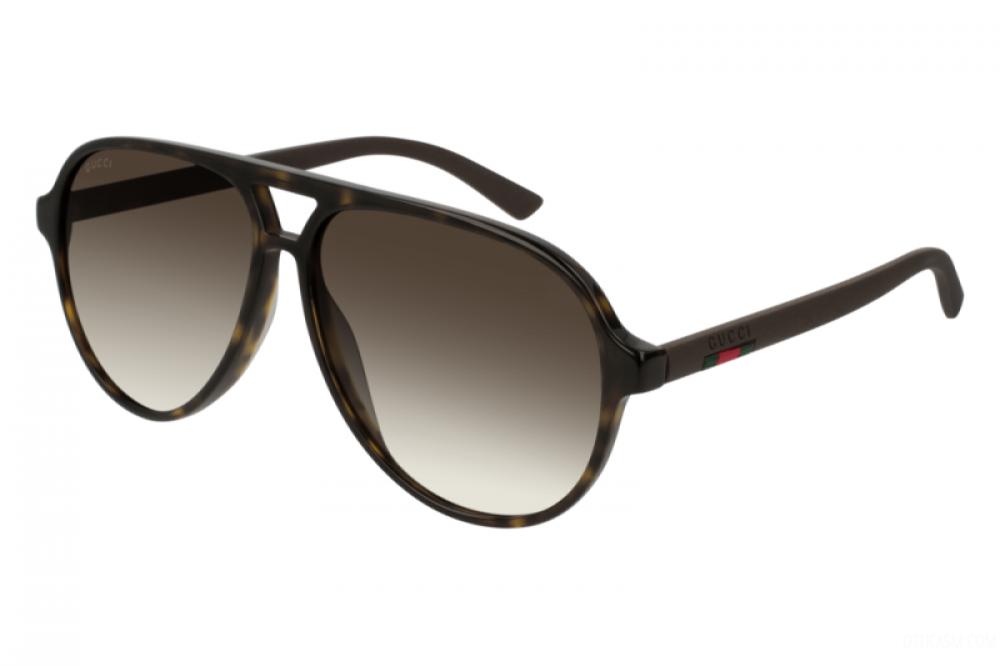 نظارة قوتشي شمسية للرجال - شكل افياتور - لون تايقر - زكي للبصريات