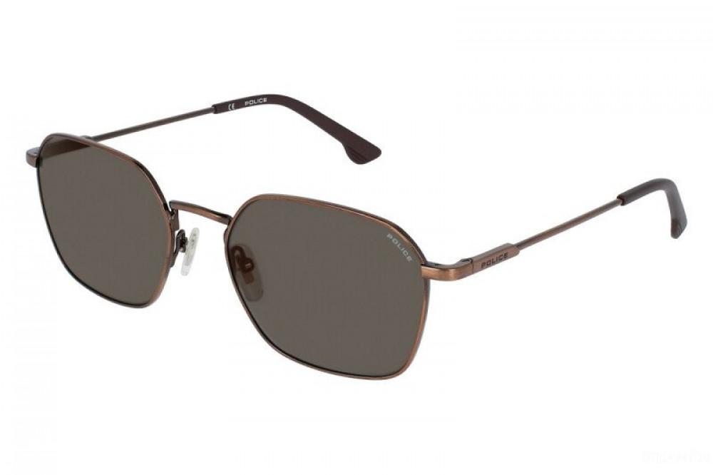 نظارة بوليس شمسية للجنسين - شكل سداسي - لون نحاسي - زكي للبصريات