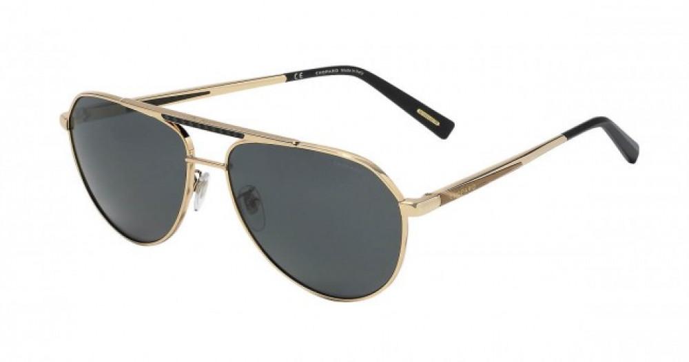 نظارة شوبارد شمسية للرجال - شكل أفياتور - لون ذهبي - زكي للبصريات
