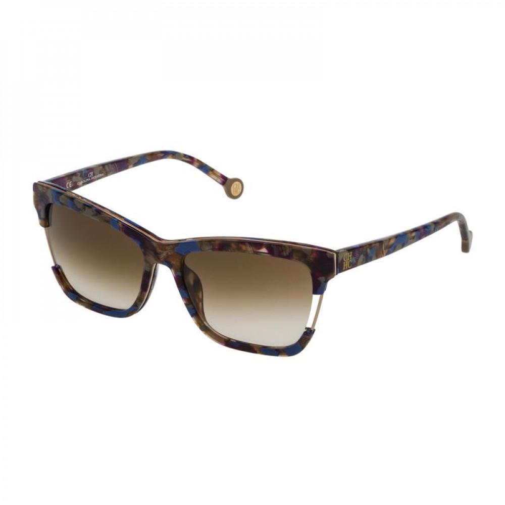 نظارات كارولينا شمسية للنساء - شكل مستطيل - لون تايقر - زكي