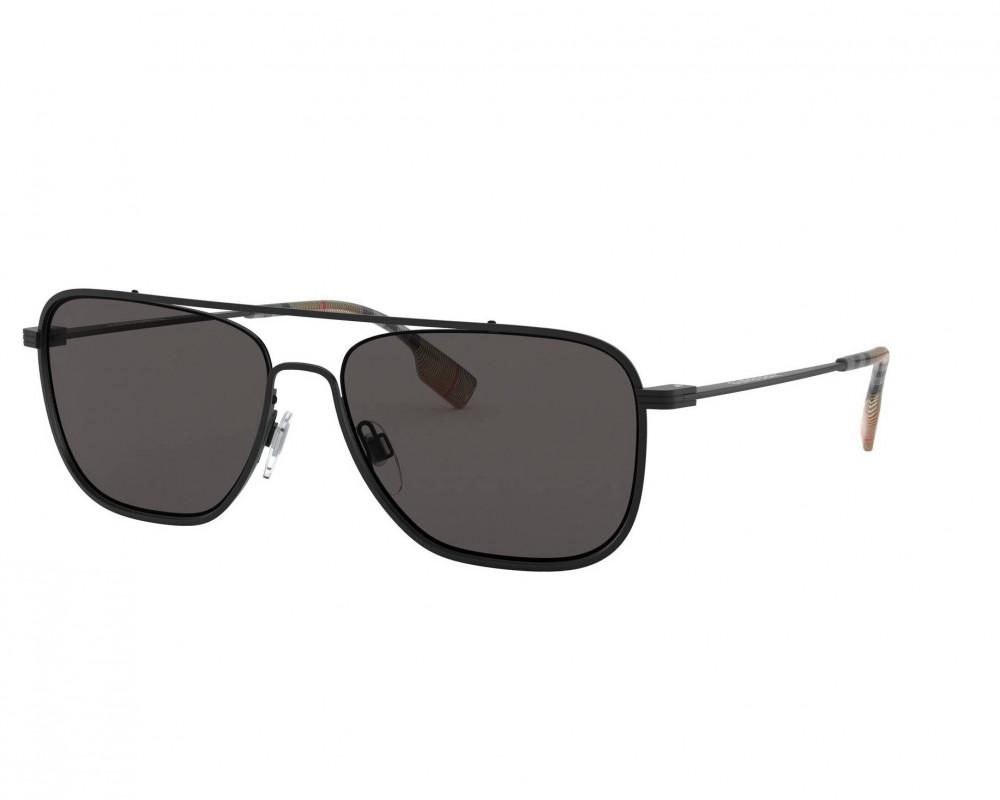 نظارة بربري شمسية للرجال - شكل مستطيل - لون أسود - زكي للبصريات