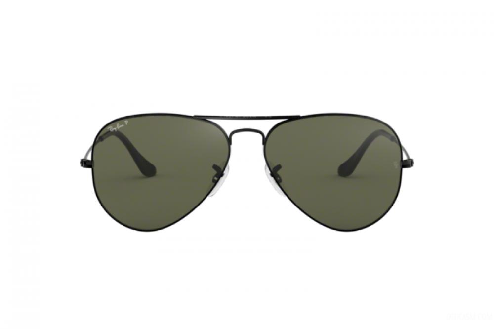 افضل نظارة ريبان شمسية للرجال - لون اسود - افياتور - زكي للبصريات