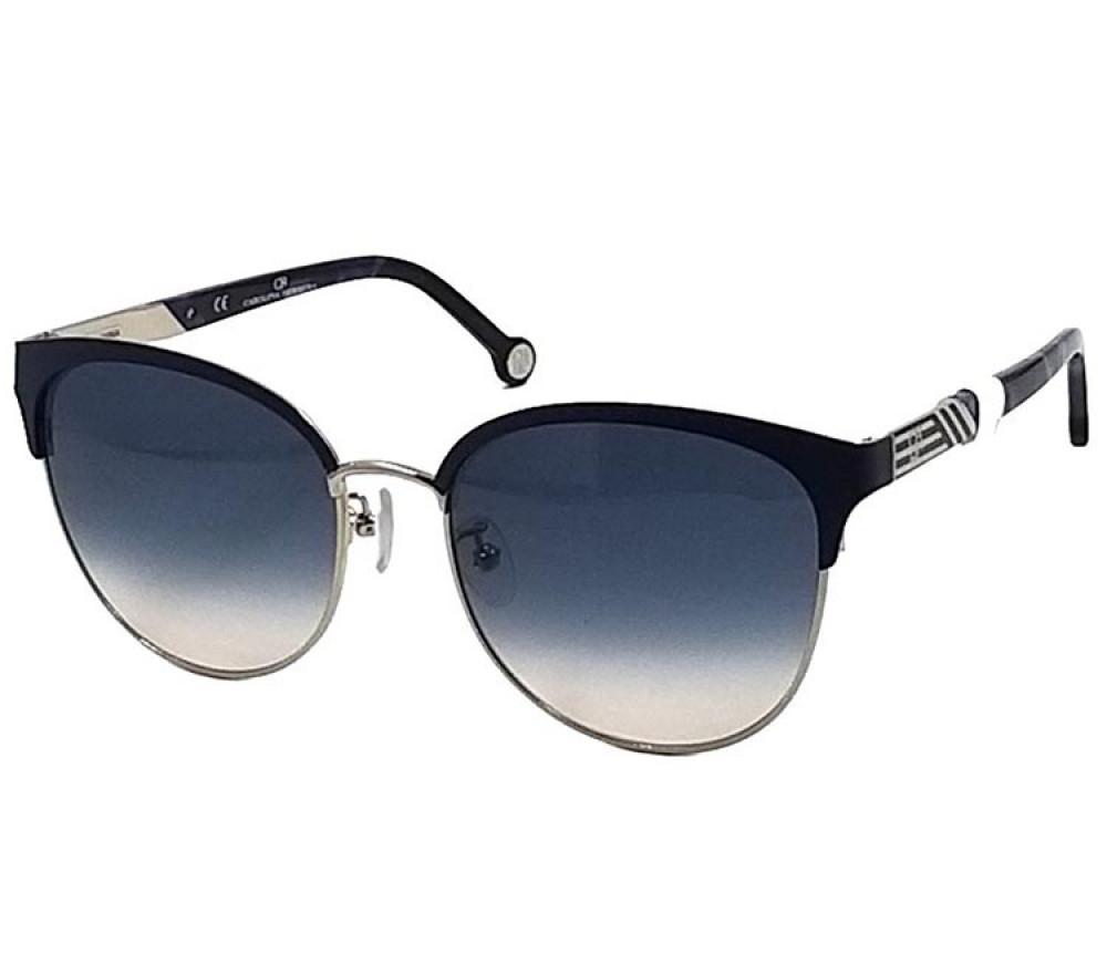 نظارات كارولينا شمسية للنساء - شكل واي فيرر - لون اسود - زكي