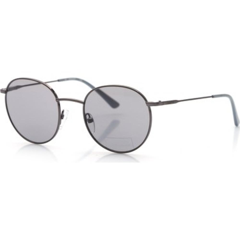 نظارات كالفن كلاين الشمسية للجنسين - شكل دائري - لون أسود - زكي
