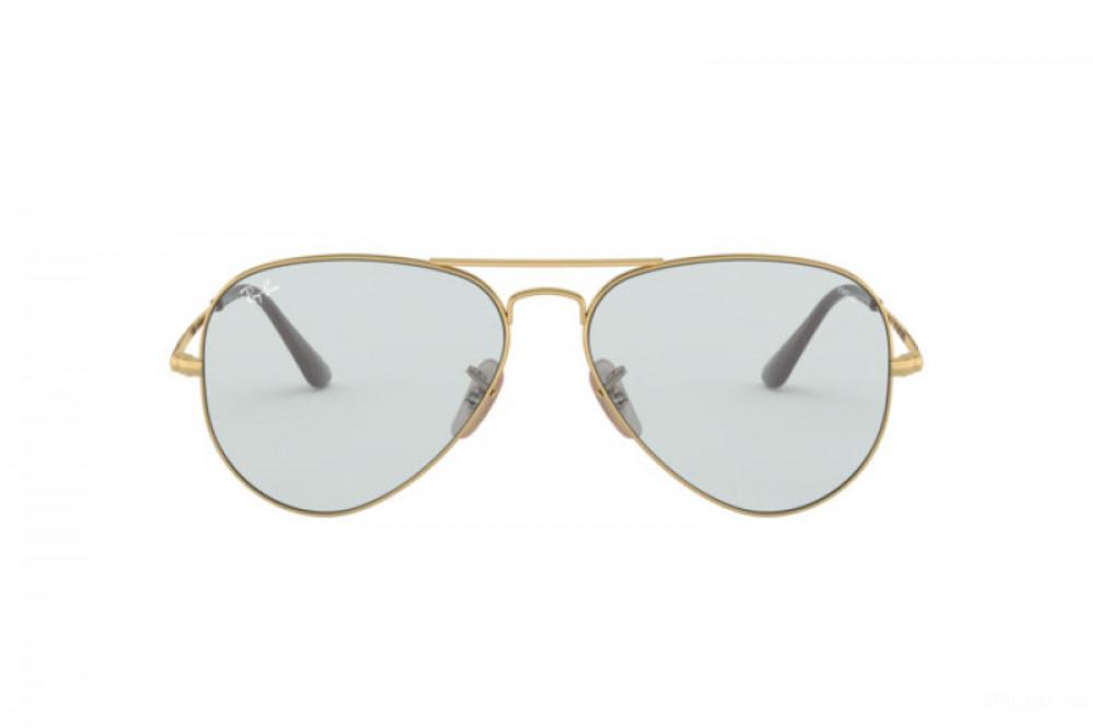 افضل نظارة ريبان شمسية للرجال - افياتور ذهبية - زكي للبصريات