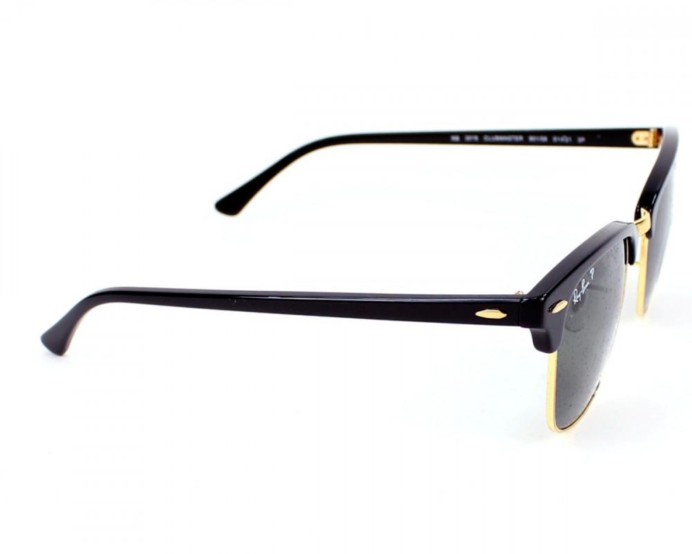 افضل نظارة ريبان شمسيه رجالية - شكل واي فير - لون اسود - زكي للبصريات