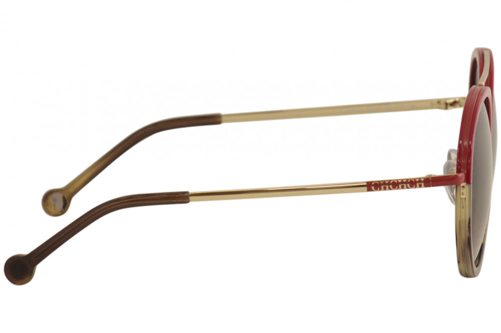 سعر نظارات كارولينا شمسية للنساء - شكل دائري - لون أحمر - زكي