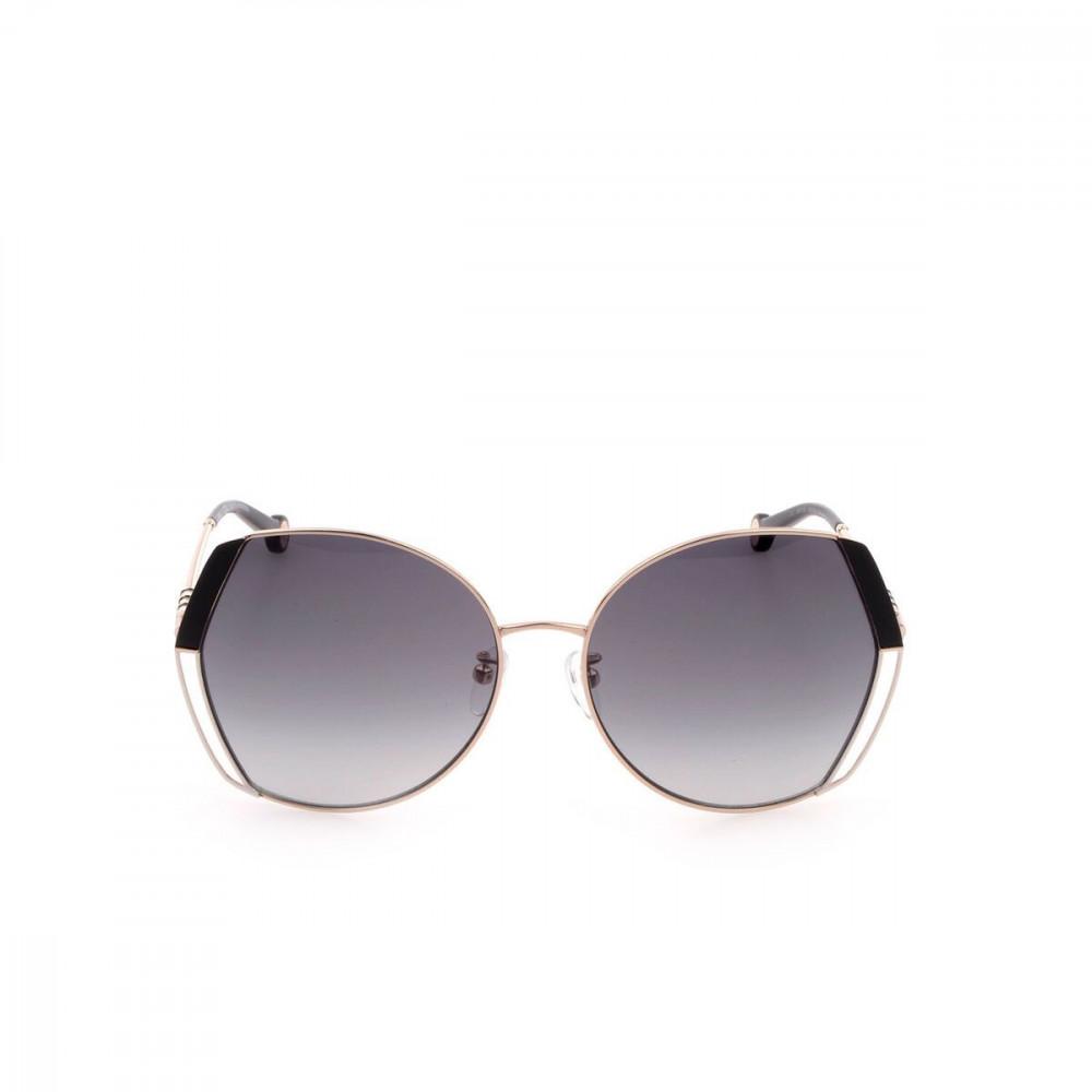 افضل نظارات كارولينا شمسية للنساء - شكلها غير منتظم - لون ذهبي - زكي