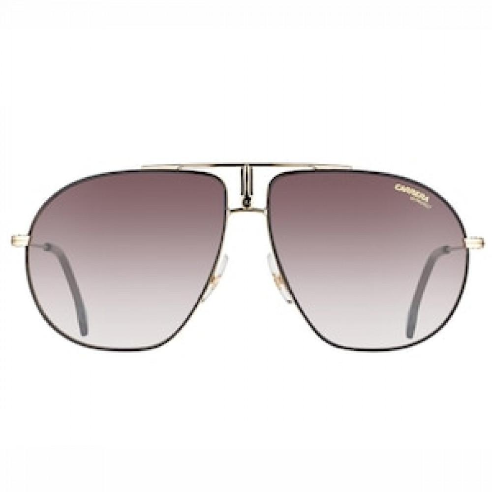 نظارة كاريرا شمسية للرجال - شكلها أفياتور - لون ذهبي - زكي للبصريات