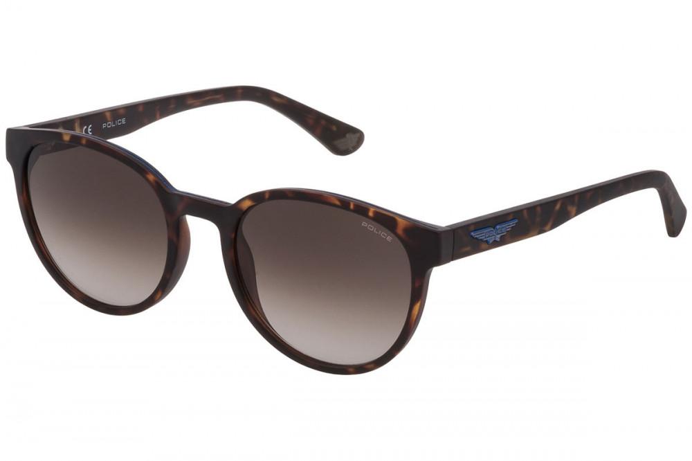 نظارة بوليس شمسية للرجال - شكل دائري - لون تايجر - زكي للبصريات