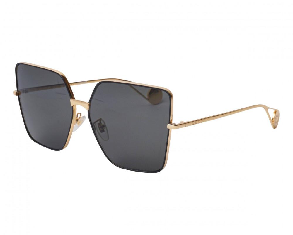 نظارة قوتشي نسائي شمسية - شكل سداسي - لون ذهبي - زكي للبصريات