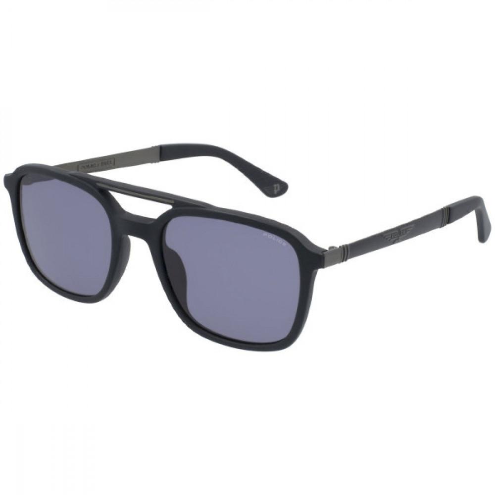 نظارة بوليس شمسية للرجال والنساء - شكل مربع - لون اسود - زكي للبصريات