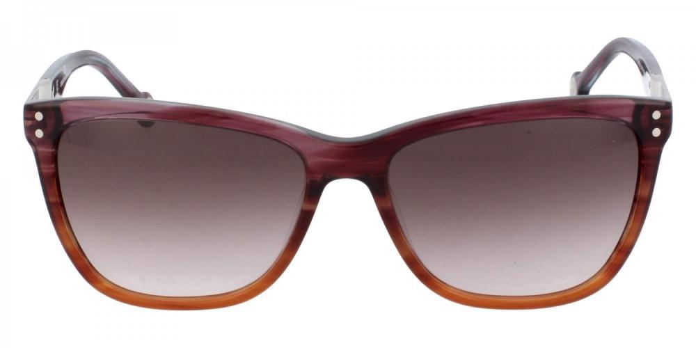 افضل نظارات كارولينا شمسية للنساء - شكل مستطيل - لون بني - زكي