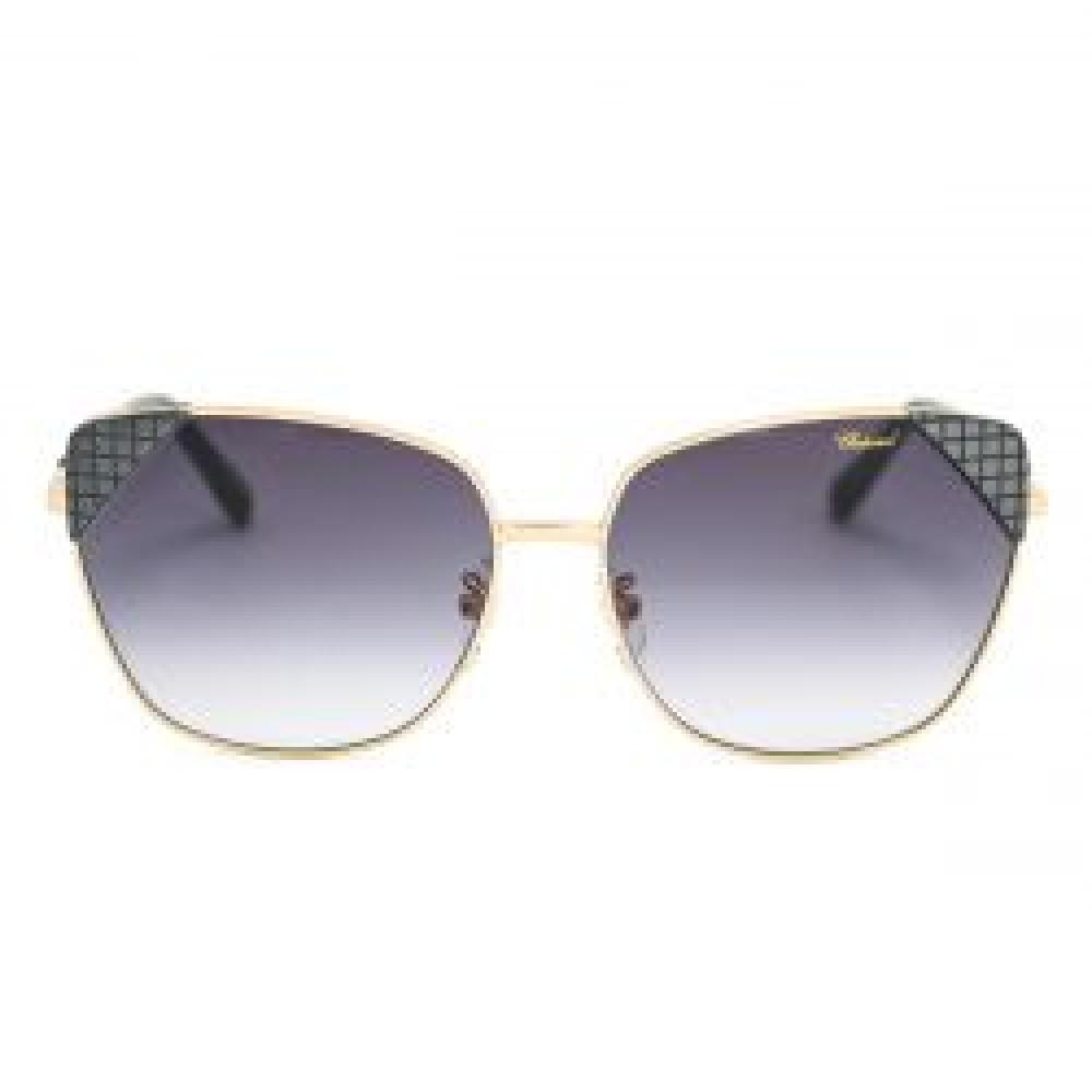 افضل نظارات شوبارد نسائية شمسية - شكل غير منتظم - لون ذهبي - زكي