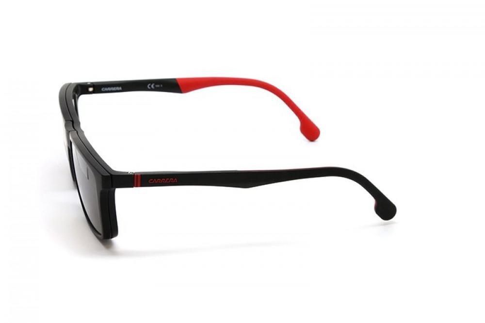 افضل نظارة كاريرا شمسية رجالية - شكل مربع - لونها أسود - زكي للبصريات