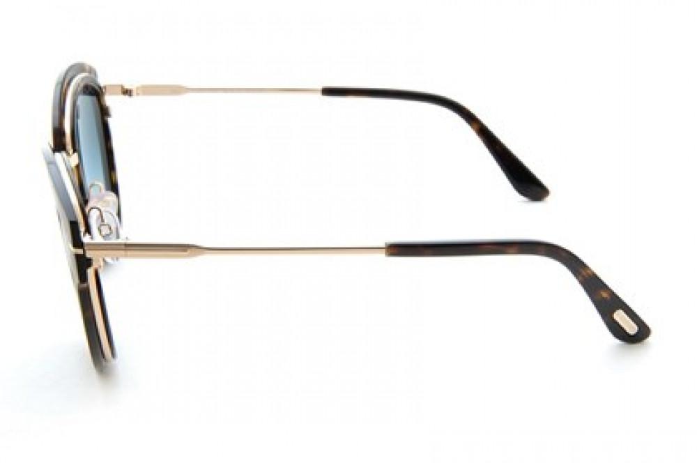 شراء   نظارات توم فورد نسائي شمسية - كات أي - لون ذهبي - زكي للبصريات