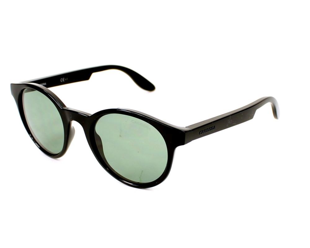 نظارة كاريرا شمسية رجاليه - شكل دائري - لون أسود - زكي للبصريات