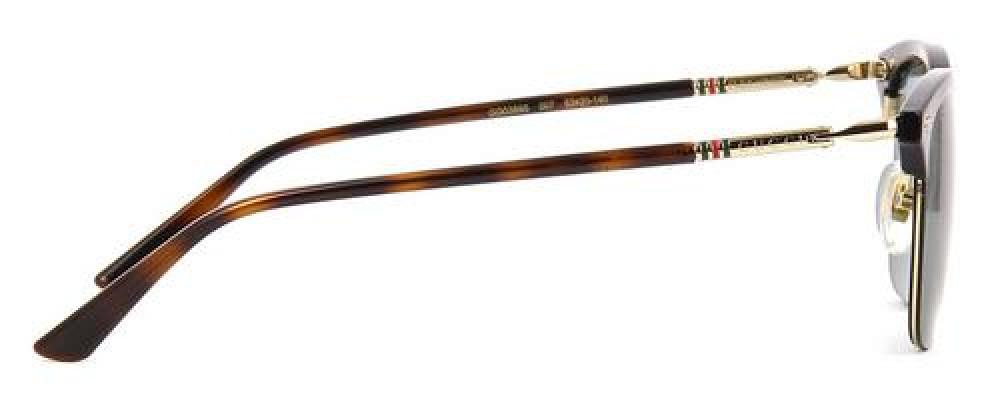 افضل نظارة قوتشي شمسية للجنسين - شكل دائري - باللون الأسود - زكي للبصر