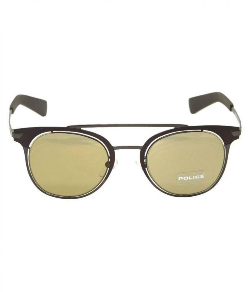 افضل نظارة بوليس شمسية للرجال - شكل دائري - لون بني - زكي للبصريات