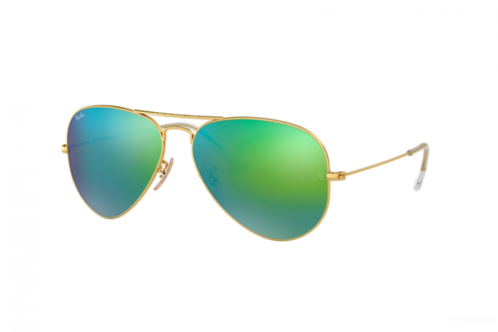نظارة ريبان شمسية للرجال - ذهبية - افياتور - زكي للبصريات