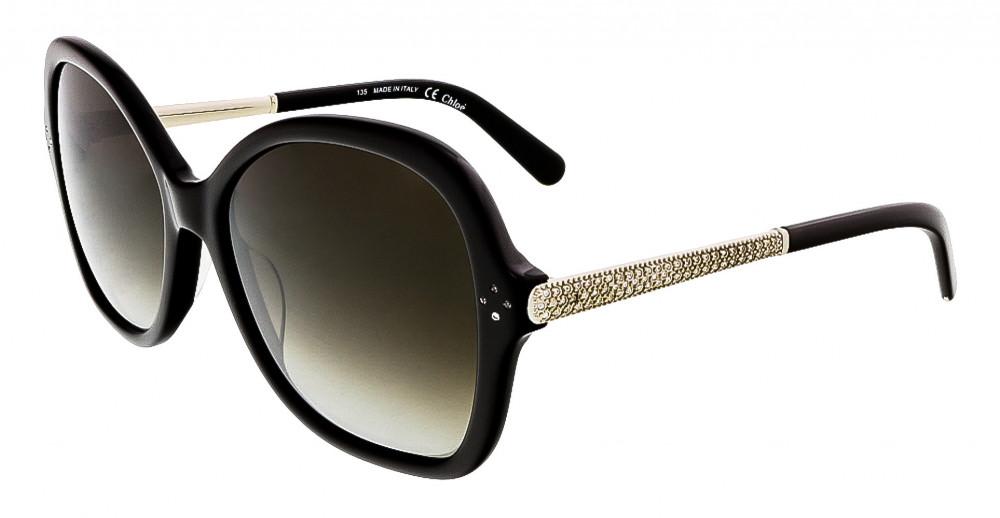 نظارة كلوي شمسية للنساء - شكل افياتور - لون أسود - زكي