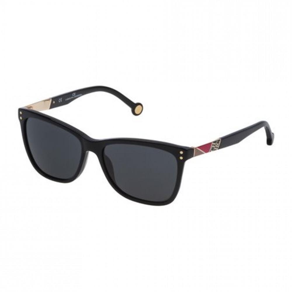 نظارات كارولينا شمسيه للنساء - شكل مربع - لون اسود - زكي