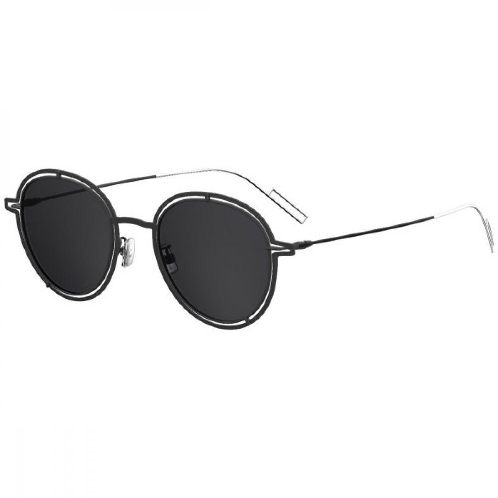 نظارة ديور شمسية للجنسين - شكل دائري - لون أسود - زكي للبصريات