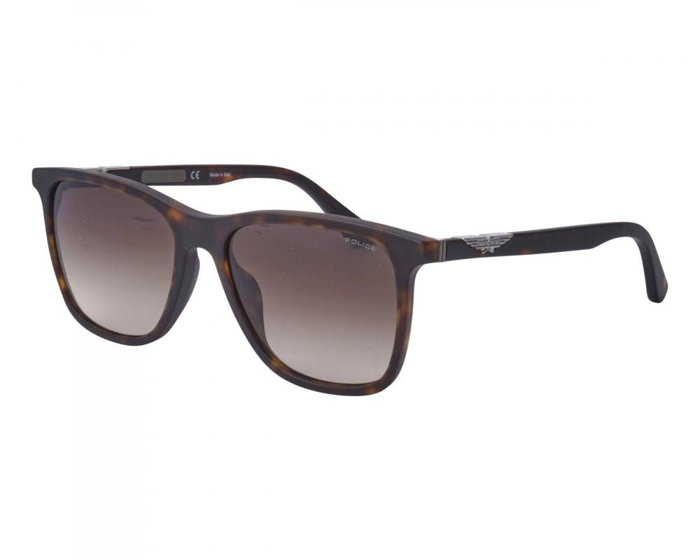 نظارة بوليس شمسيه رجالية - شكل واي فيرر - لون أسود - زكي للبصريات