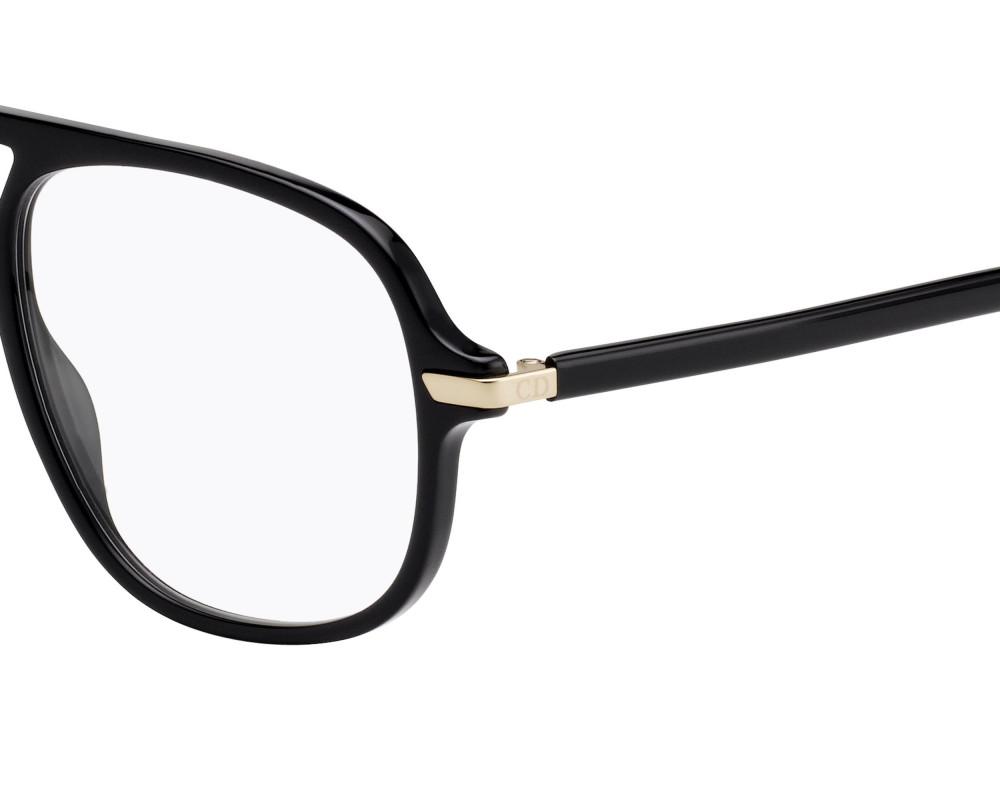 نظارة ديور هوم للرجال شمسية - شكل أفياتور - لون أسود - زكي للبصريات