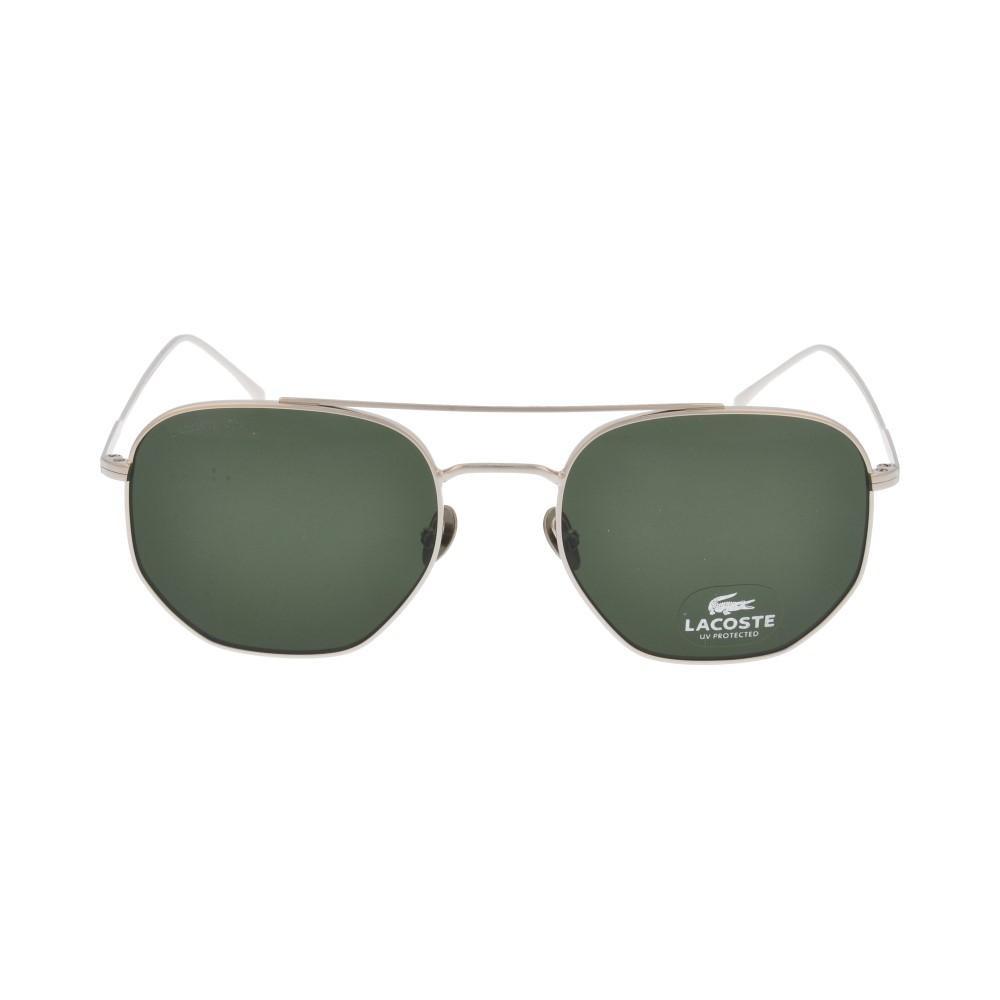 افضل نظارة لاكوست شمسية للجنسين - شكل سداسي - لون فضي - زكي للبصريات