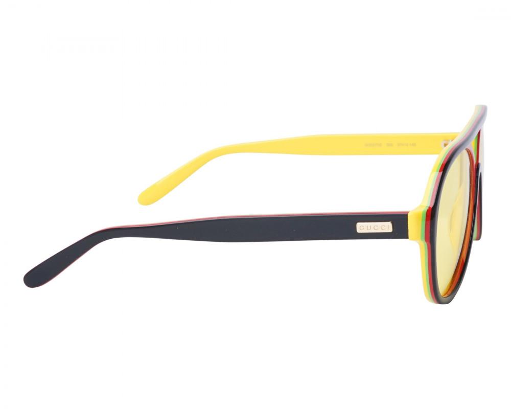 احسن نظارة قوتشي شمسية للرجال - شكل افياتور - سوداء - زكي للبصريات