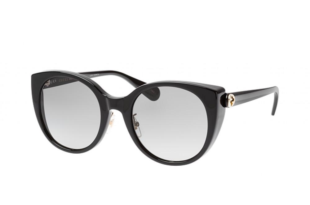 نظارة قوتشي نسائي شمس - شكل كات أي - لون أسود - زكي