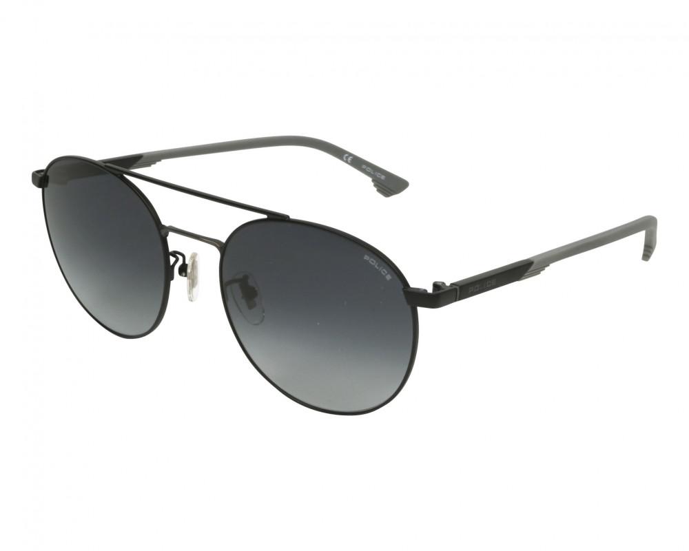 نظارة بوليس شمسيه رجالية - شكل دائري - لون اسود - زكي للبصريات