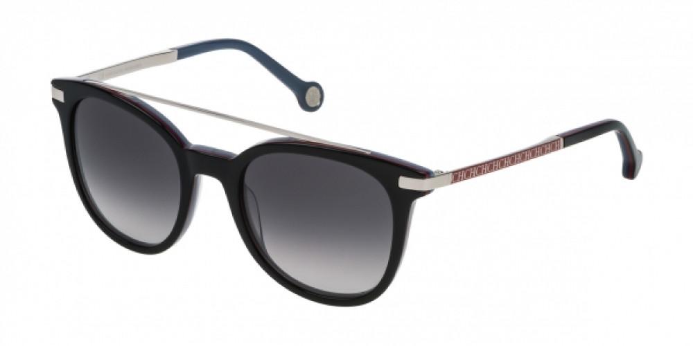 نظارات كارولينا شمسية للنساء - شكل دائري - لونها أسود - زكي