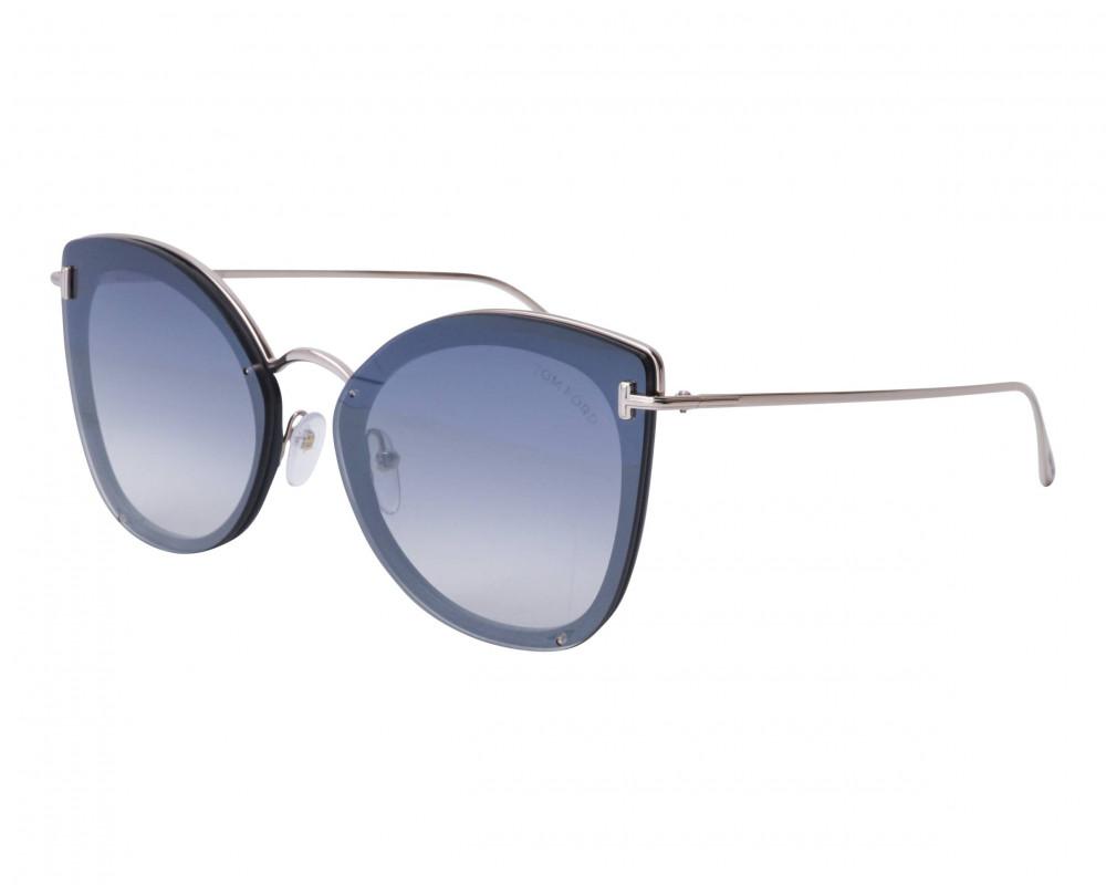 نظارات توم فورد نسائي شمسية - كات اي - لون فضي - زكي للبصريات