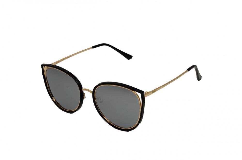 نظارة لومير شمسية للجنسين - شكل كات أي - لون أسود - زكي