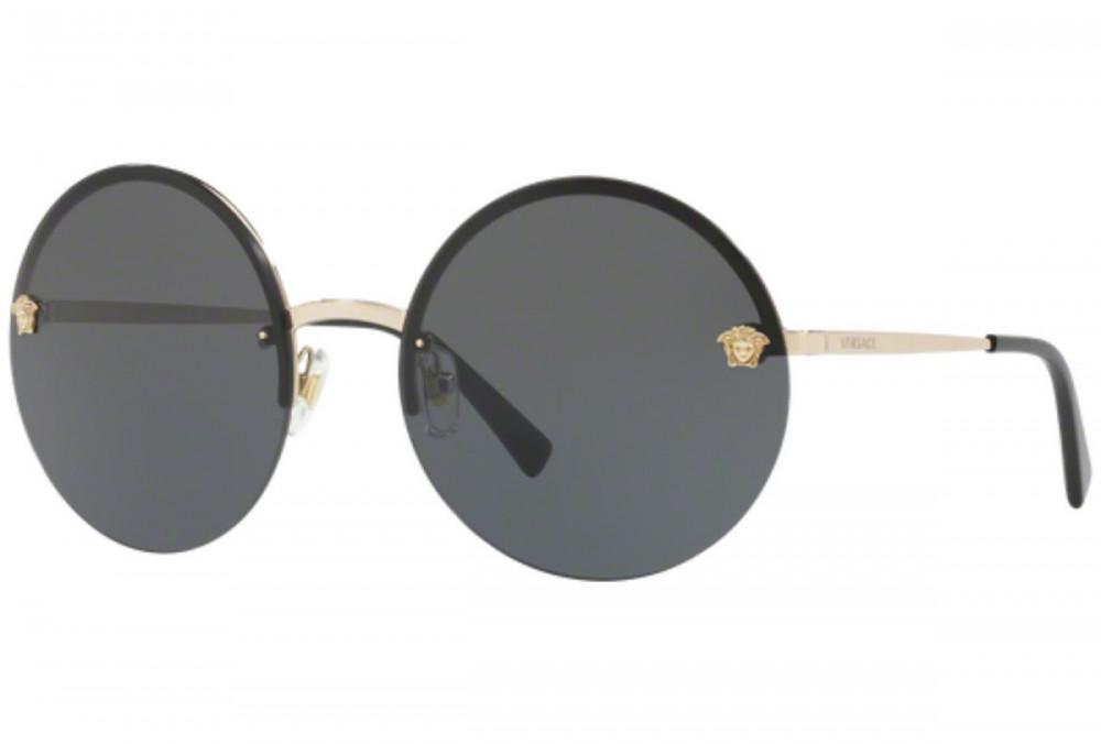 نظارات شمسية نسائية فرزاتشي للنساء - شكل دائري - لون ذهبي - زكي للبصري