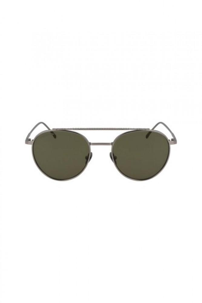 سعر نظارة لاكوست شمسيه للجنسين - شكل دائري - باللون فضي - زكي للبصريات