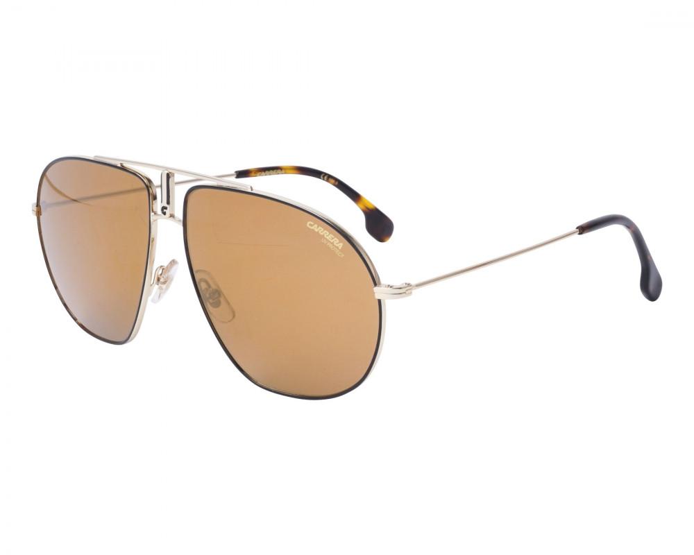 نظارة كاريرا شمسية للرجال - شكل افياتور - لون ذهبي - زكي للبصريات