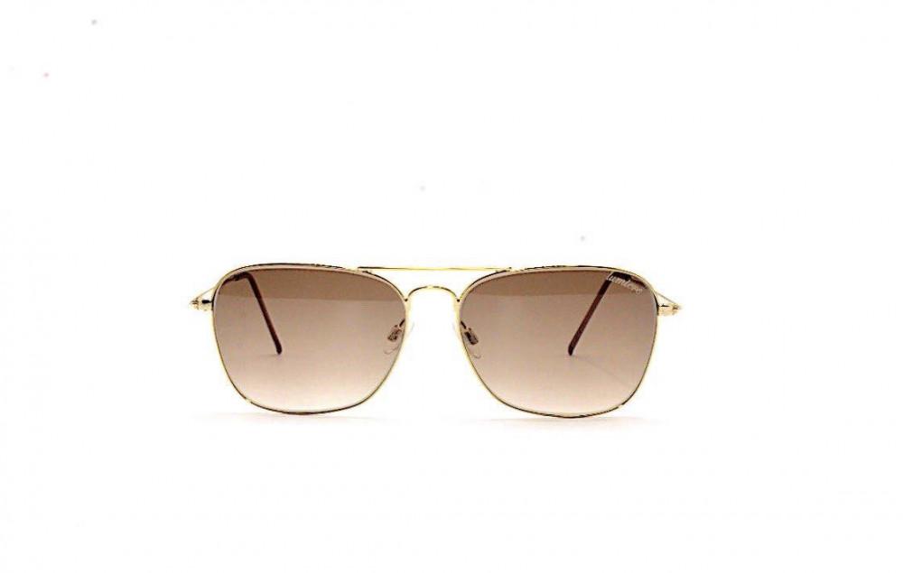 نظارة لومير شمسية للجنسين - شكلها غير منتظم - لون رمادي - زكي
