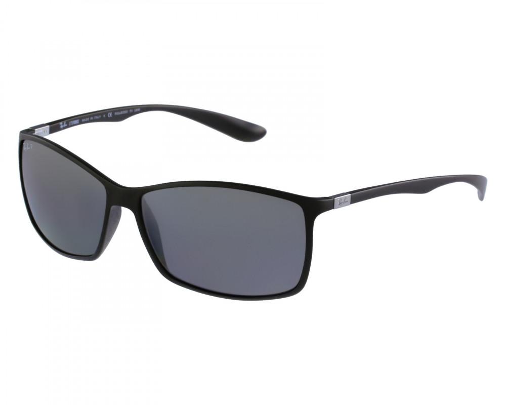 نظارة ريبان شمسية للرجال -  أسود - شكل مستطيل - زكي للبصريات