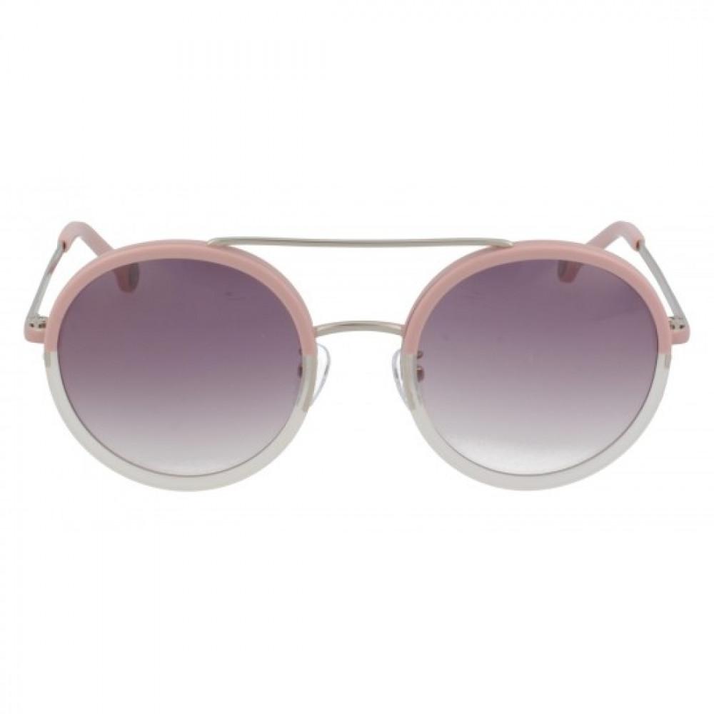 سعر نظارات كارولينا شمسية للنساء - شكل دائريه - لون وردي - زكي
