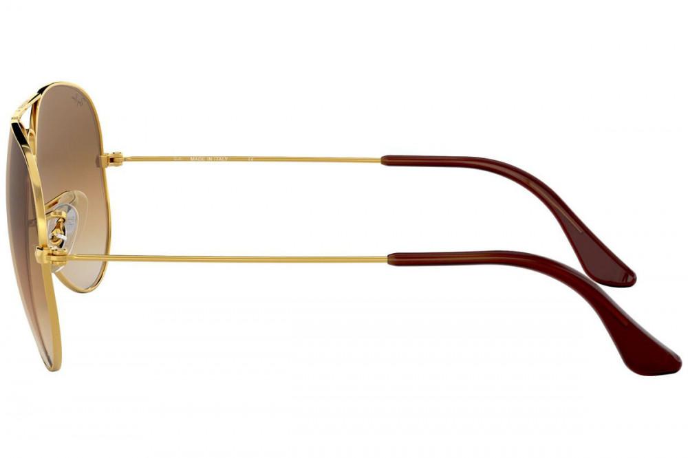 احسن نظارة ريبان شمسية للجنسين - شكل افياتور - لون ذهبي - زكي للبصريات
