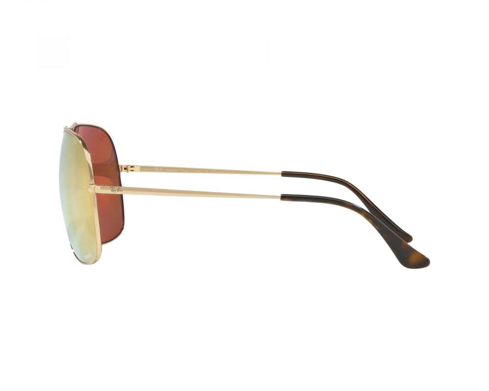 احسن نظارة ريبان شمسية للرجال - لون ذهبي - مربعة الشكل - زكي للبصريات