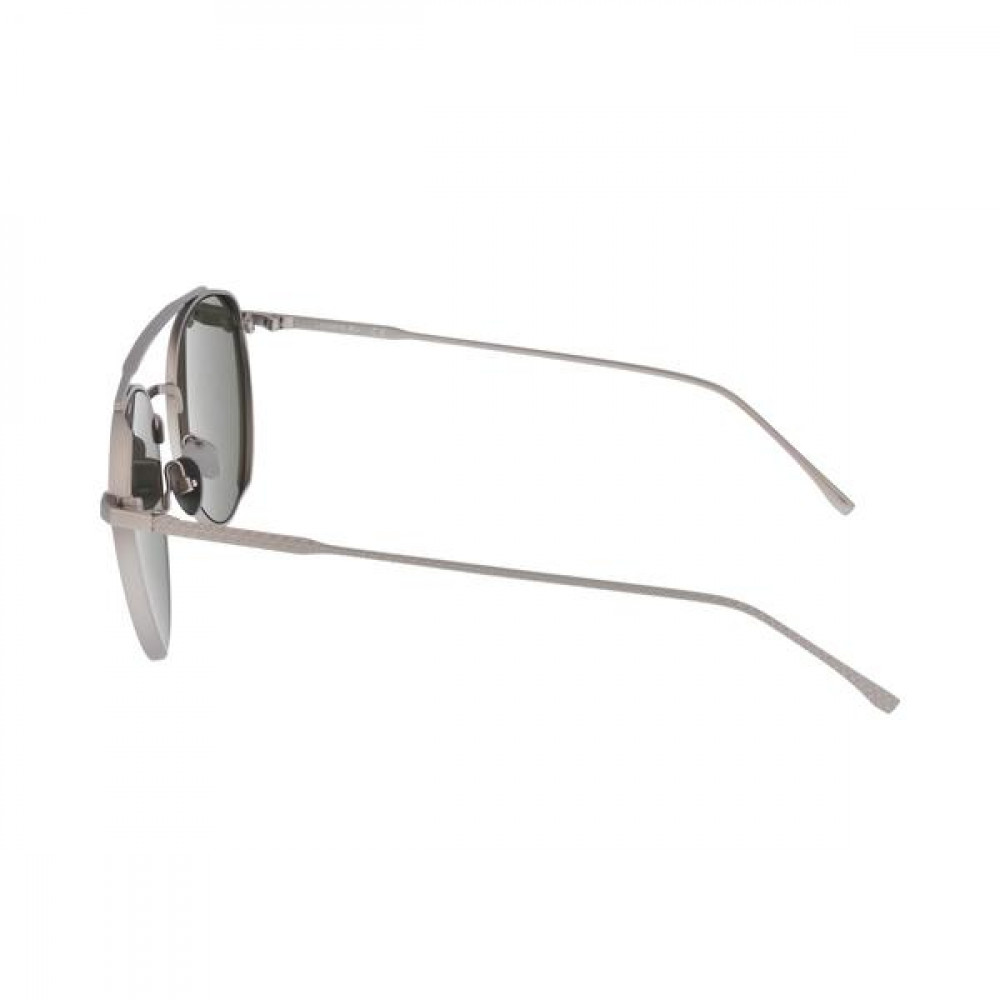 افضل نظارة لاكوست شمسيه للجنسين - شكل دائري - باللون فضي - زكي للبصريا