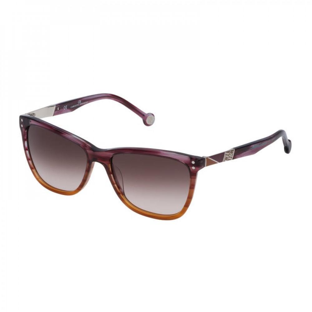 نظارات كارولينا شمسية للنساء - شكل مستطيل - لون بني - زكي